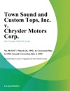 Town Sound And Custom Tops Inc V Chrysler Motors Corp
