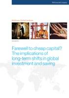 Farewell to Cheap Capital?
