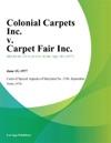Colonial Carpets Inc V Carpet Fair Inc