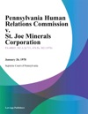Pennsylvania Human Relations Commission V St Joe Minerals Corporation