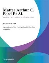 Matter Arthur C. Ford Et Al.