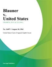 Blauner V. United States