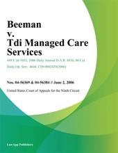 Beeman v. Tdi Managed Care Services
