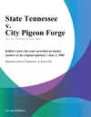State Tennessee V City Pigeon Forge