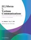 U Sforza V Verizon Communications