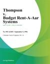 Thompson V Budget Rent-A-Car Systems