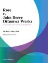 Rose V John Deere Ottumwa Works