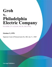 Groh V. Philadelphia Electric Company