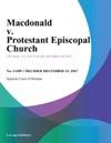 Macdonald V Protestant Episcopal Church