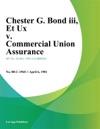 Chester G Bond Iii Et Ux V Commercial Union Assurance