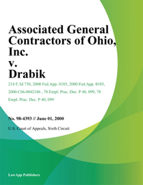 Associated General Contractors of Ohio, Inc. v. Drabik
