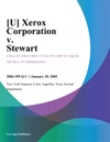 U Xerox Corporation V Stewart