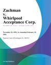 Zachman V Whirlpool Acceptance Corp