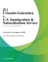 U Cruzado-Goicochea V US Immigration  Naturalization Service