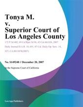 Tonya M. v. Superior Court of Los Angeles County