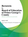 Bernstein V Board Of Education Of Prince Georges County