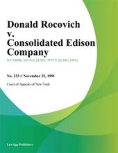 Donald Rocovich V. Consolidated Edison Company