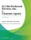 U Msi Preferred Services