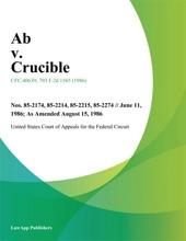 Ab V. Crucible