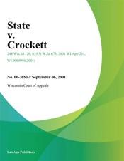 Download and Read Online State v. Crockett