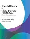 Ronald Heath V State Florida 102094