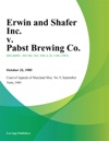 Erwin And Shafer Inc V Pabst Brewing Co