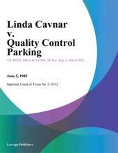Linda Cavnar V. Quality Control Parking