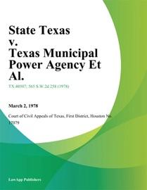 STATE TEXAS V. TEXAS MUNICIPAL POWER AGENCY ET AL.