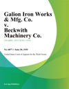 Galion Iron Works  Mfg Co V Beckwith Machinery Co