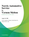 Norris Automotive Service V Vernon Melton