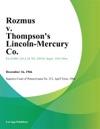 Rozmus V Thompsons Lincoln-Mercury Co