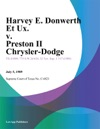 Harvey E Donwerth Et Ux V Preston Ii Chrysler-Dodge