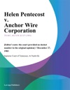 Helen Pentecost V Anchor Wire Corporation