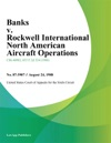 Banks V Rockwell International North American Aircraft Operations