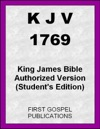 KJV 1769 King James Bible Authorized Version Students Edition