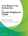 Avis Rent A Car System Inc V Garage Employees Union