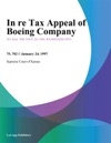 In Re Tax Appeal Of Boeing Company