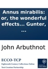 Annus Mirabilis Or The Wonderful Effects Of The Approaching Conjunction Of The Planets Jupiter Mars And Saturn By Abraham Gunter