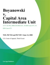 Boyanowski V. Capital Area Intermediate Unit