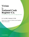 Vivion V National Cash Register Co