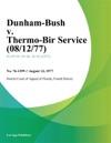 Dunham-Bush V Thermo-Bir Service