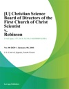 U Christian Science Board Of Directors Of The First Church Of Christ Scientist V Robinson