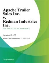 Apache Trailer Sales Inc. v. Redman Industries Inc.