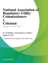 National Association of Regulatory Utility Commissioners v. Coleman