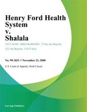Henry Ford Health System V. Shalala