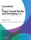 Greenleaf V Puget Sound Bridge And Dredging Co