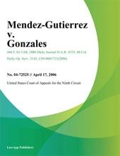 Mendez-Gutierrez V. Gonzales
