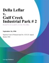 Della Leflar V Gulf Creek Industrial Park  2