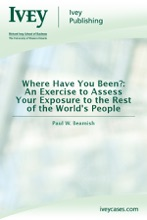 Where Have You Been?: An Exercise To Assess Your Exposure To The Rest Of The World's People