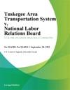 Tuskegee Area Transportation System V National Labor Relations Board